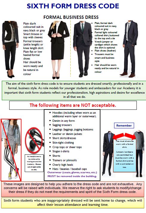 Sixth form Dress Code   Walworth Academy